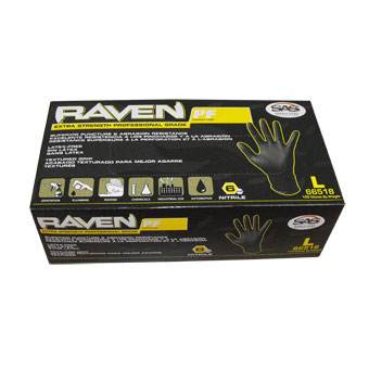 Raven Nitrile Gloves (Large)