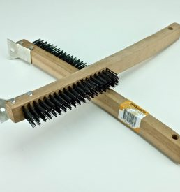 4x19 ROW WIRE BRUSH WITH SCRAP