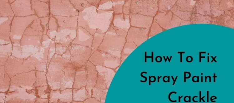How To Fix Spray Paint Crackle